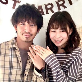福島県福島市 ロイヤルアッシャーといい夫婦の結婚指輪ご成約のお客様