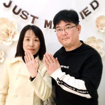 福島県福島市  ゲスナー結婚指輪ご成約のお客様