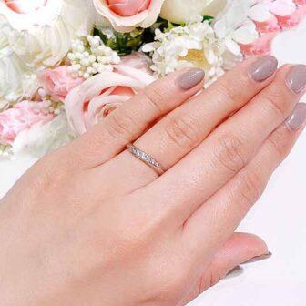 S字ラインの結婚指輪