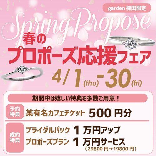 春のプロポーズ応援フェアのアイキャッチ