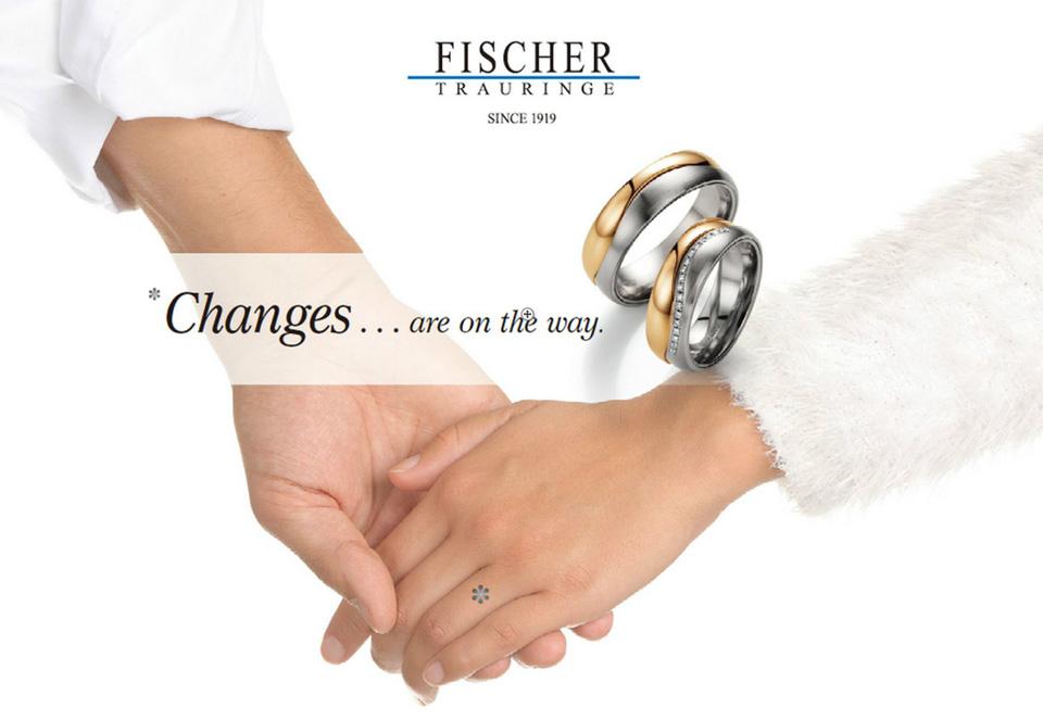 鍛造製法の結婚指輪FISCHER
