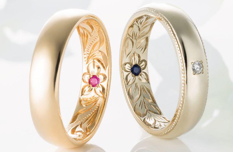 マイレ 結婚指輪 内彫り