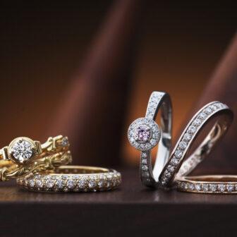 アンティークで可愛い婚約指輪