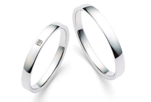 モダンプラチナの結婚指輪