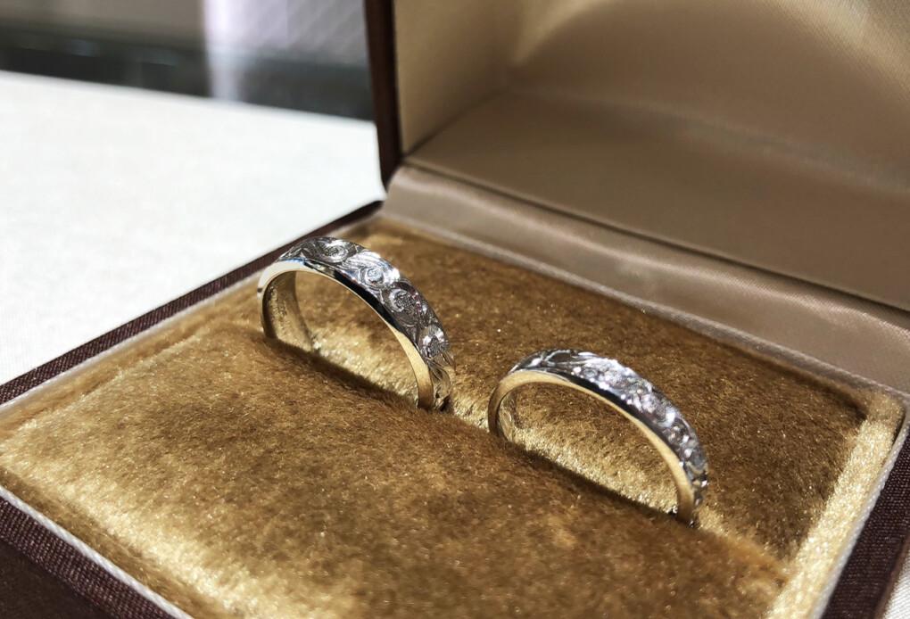 結婚指輪 ハワイアンジュエリー プラチナ