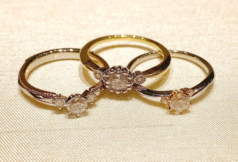 サプライズプロポーズ 婚約指輪