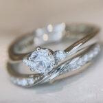 【静岡市】婚約指輪と重ね着けしたい!相性の良い結婚指輪の形とは