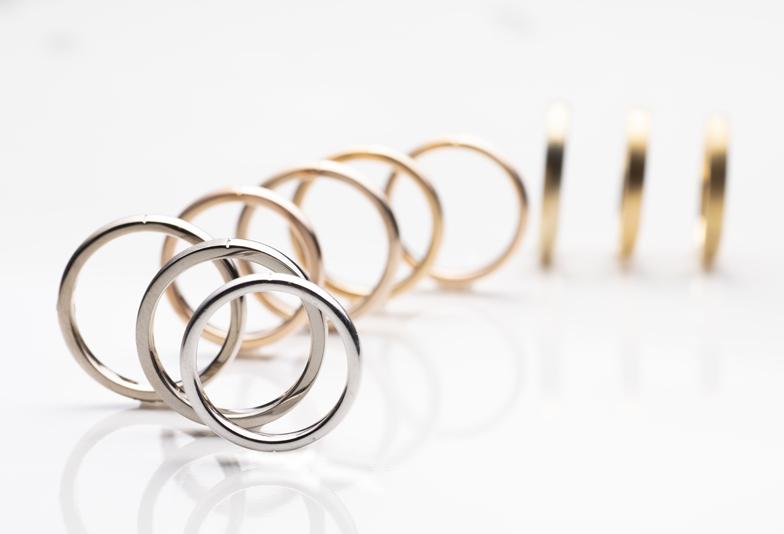 静岡市結婚指輪ゴールド
