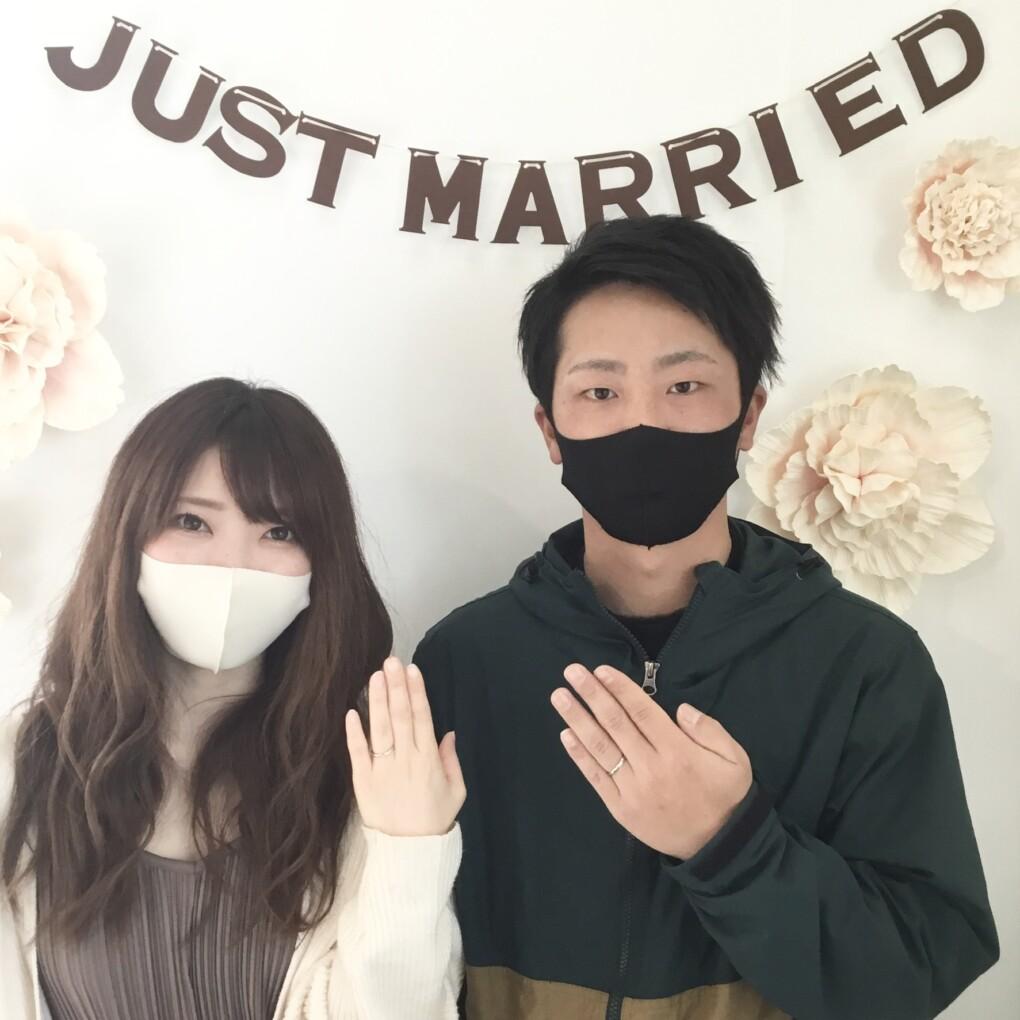 福島県福島市 ロイヤルアッシャーの結婚指輪ご成約のお客様