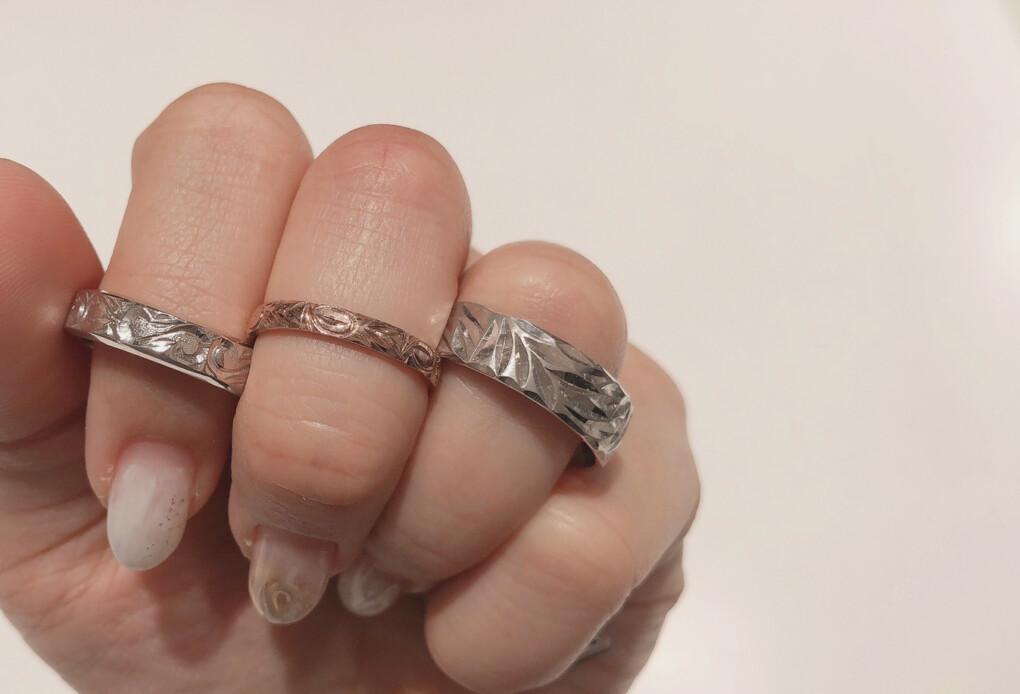 結婚指輪 ハワイアンジュエリー 幅