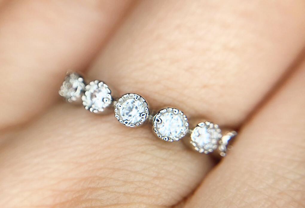 結婚指輪 エタニティリング ミル打ち 丸ミル
