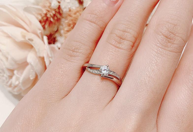 ゴージャスな婚約指輪