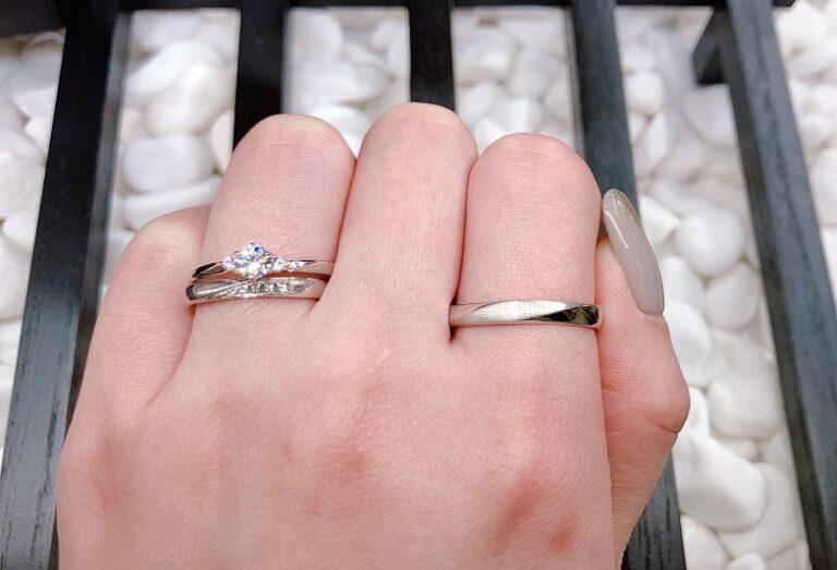 彩乃端木漏れ日の散歩道の結婚指輪・婚約指輪