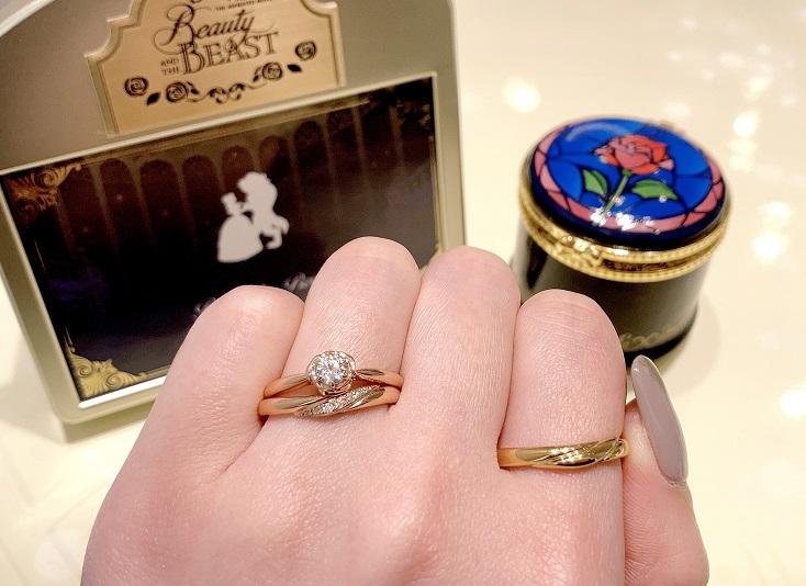 Disney Beauty AND THE BEAST婚約指輪、結婚指輪