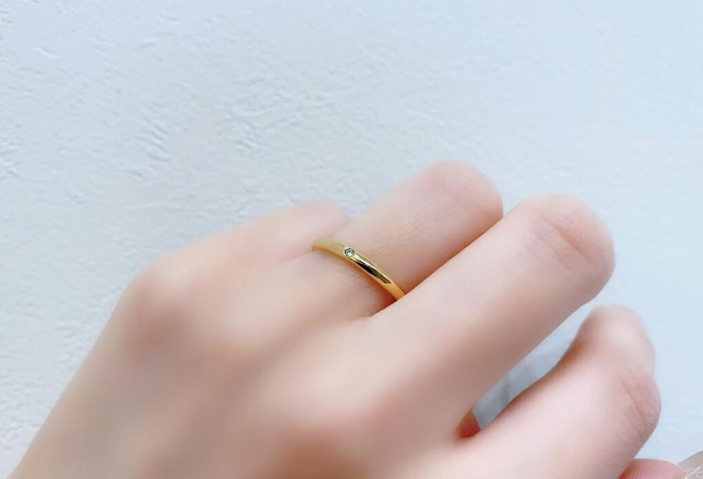 結婚指輪 イエローゴールド