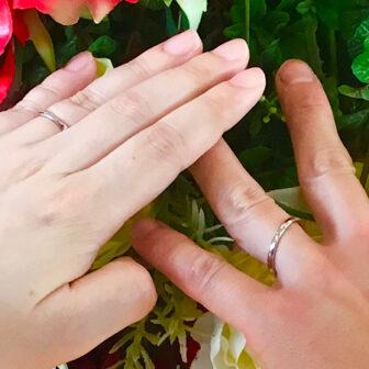福島県福島市|プチマリエのご結婚指輪をご成約のお客様