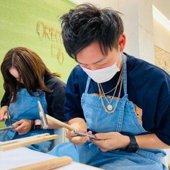 兵庫県・西宮市|手作りペアリング(指輪)を作成していただきました