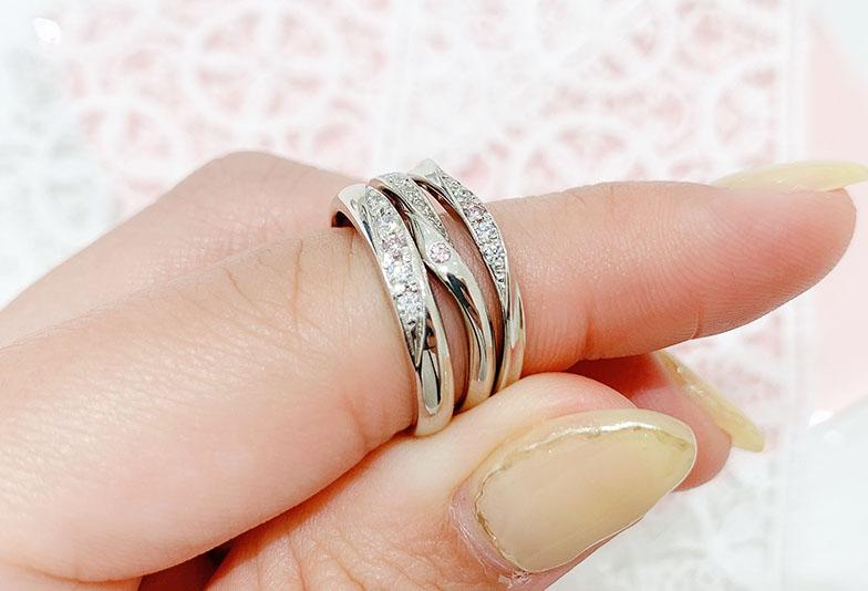 浜松市結婚指輪ピンクダイヤモンド