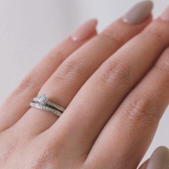 広島県広島市と広島県福山市の中国エリア最大級のセレクトジュエリーショップヴァニラの婚約指輪と結婚指輪のセットリング
