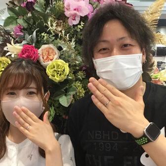 福島県郡山市|ロイヤルアッシャーの結婚指輪をご成約のお客様