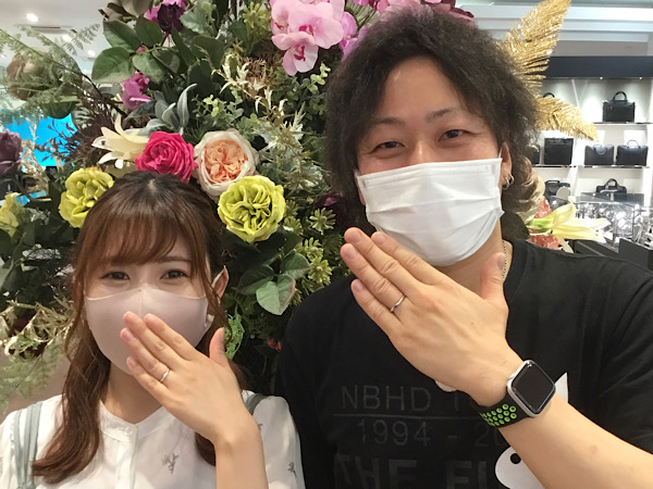 福島県郡山市 ロイヤルアッシャーの結婚指輪をご成約のお客様