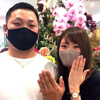 福島県郡山市|ロイヤルアッシャーのご結婚指輪をご成約のお客様