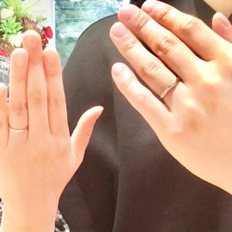 福島県福島市|ロイヤルアッシャーの結婚指輪をご成約のお客様