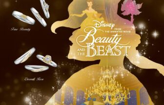 広島の中国エリア最大級のセレクトショップヴァニラが取り扱うDisney Beauty AND THE BEAST ディズニー美女と野獣の婚約指輪と結婚指輪