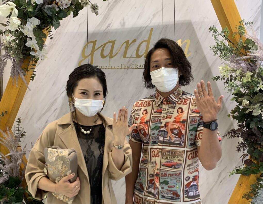 滋賀県・甲賀市 鍛造製法 フィッシャーの結婚指輪をご成約いただきました