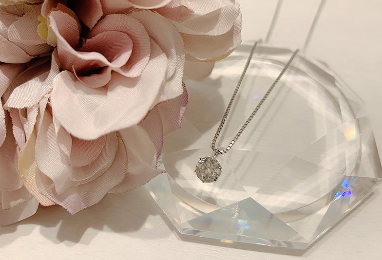 ダイヤモンド婚約ネックレス