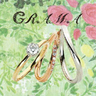 グラマの婚約指輪と結婚指輪でパッションフラワー