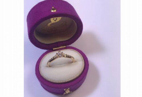 南大阪でラプンツェルの婚約指輪