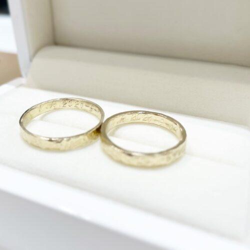 ハンドメイド指輪を作成頂きました