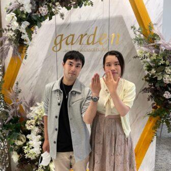 兵庫県豊岡市・多可郡多可町 美女と野獣の結婚指輪をご成約いただきました