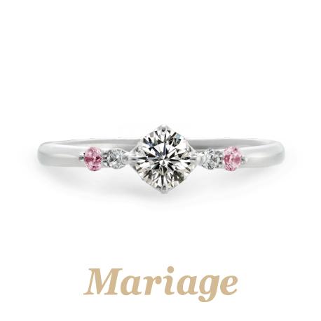 Mariage entの婚約指輪でRond Bonheur