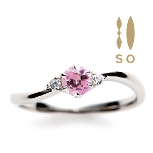 南大阪ピンクサファイヤの婚約指輪