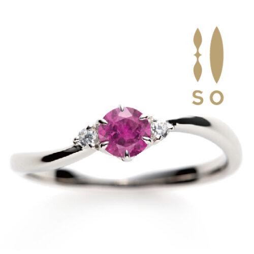 南大阪ルビーの婚約指輪