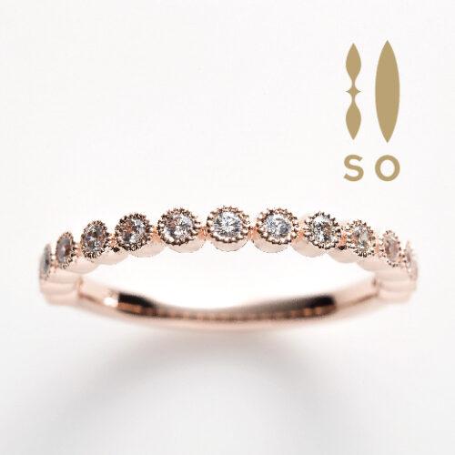 南大阪ホワイトサファイヤの指輪