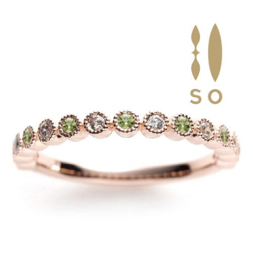 南大阪ペリドットの指輪