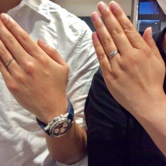 福島県 いわき市 CAFE RING婚約指輪・結婚指輪ご成約のお客様