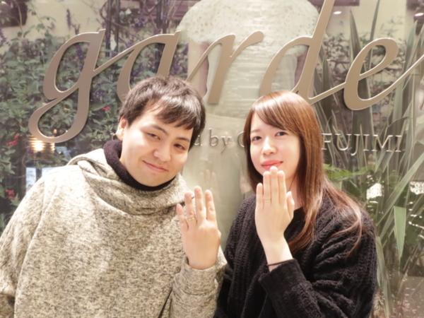 【大阪市浪速区】ORECCHIO(オレッキオ)の結婚指輪をご成約頂きました。