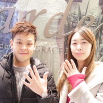 【大阪市淀川区】RosettE(ロゼット)の結婚指輪をご成約頂きました。
