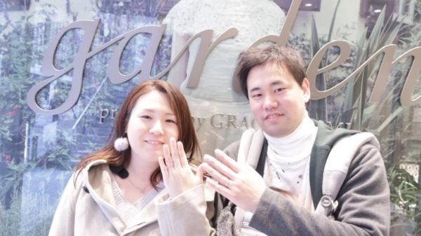 【神戸市東灘区】ORECCHIO(オレッキオ)の結婚指輪をご成約頂きました。