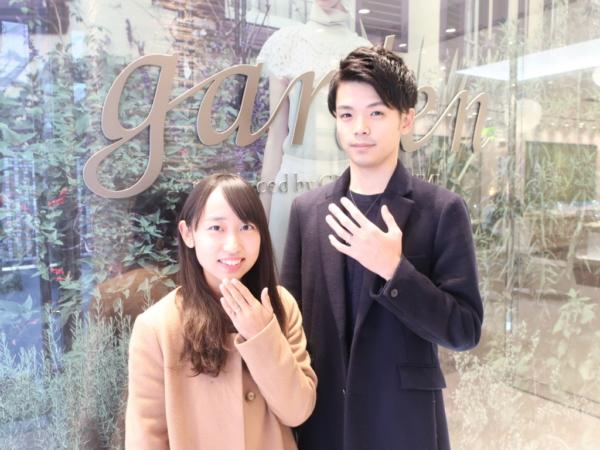 【兵庫県宝塚市】ひなの婚約指輪とFISCHER(フィッシャー)の結婚指輪をご成約頂きました。