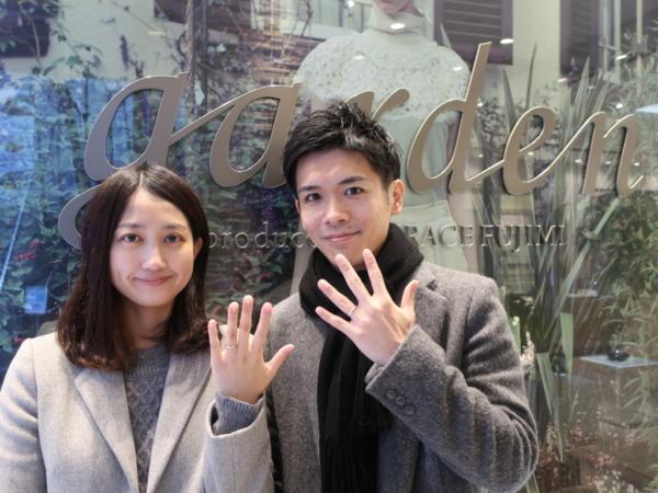 【大阪市城東区】D-Terraceの婚約指輪とFISCHERの結婚指輪をご成約頂きました。