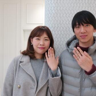 【鳥取県鳥取市】ひなの婚約指輪とKatamuの結婚指輪をご成約頂きました。