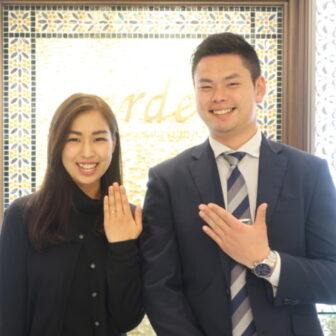 【兵庫県宝塚市】gardenオリジナルの婚約指輪をご成約頂きました。